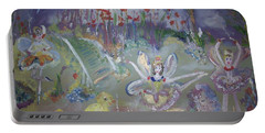Lavender Fairies Portable Battery Charger by Judith Desrosiers