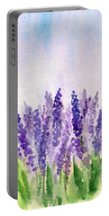 Lavender Field Portable Battery Charger