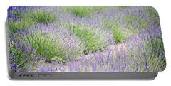 Lavender Field Farm Landscape Portable Battery Charger by Andrea Hazel Ihlefeld