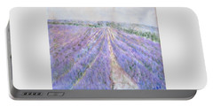 Lavender Fields Provence-france Portable Battery Charger