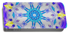 Portable Battery Charger featuring the digital art Lavender Floral by Shawna Rowe