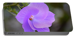 Portable Battery Charger featuring the photograph Lavender Flower by AJ Schibig