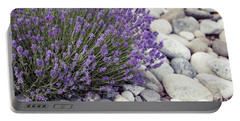 Portable Battery Charger featuring the photograph Lavender Flower In The Garden,park,backyard,meadow Blossom In Th by Jingjits Photography
