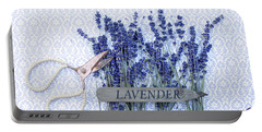 Portable Battery Charger featuring the photograph Lavender Garden by Rebecca Cozart