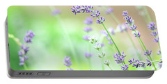 Lavender Garden Portable Battery Charger by Trina Ansel