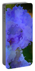 Lavender Curlicue Iris  Portable Battery Charger