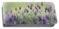 Lavender Portable Battery Charger by Keith Hawley