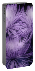 Lavender Mums Portable Battery Charger