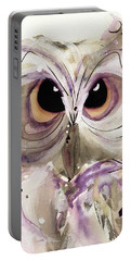Lavender Owl Portable Battery Charger
