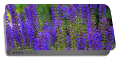 Portable Battery Charger featuring the digital art Lavender Patch by Chris Flees