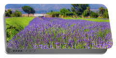 Lavender Portable Battery Charger by Peter Tellone