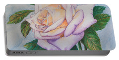 Lavender Rose Portable Battery Charger by Marna Edwards Flavell