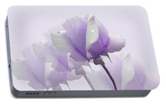 Portable Battery Charger featuring the photograph Lavender Roses  by Rosalie Scanlon