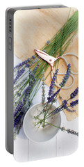 Portable Battery Charger featuring the photograph Lavender Still Life 3 by Rebecca Cozart