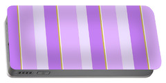 Portable Battery Charger featuring the mixed media Lavender Stripe Pattern by Christina Rollo