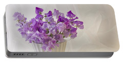 Lavender Sweet Peas And Chiffon Portable Battery Charger