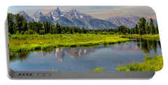 Lavender Teton Peaks  Portable Battery Charger