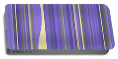 Portable Battery Charger featuring the digital art Lavender Twilight - Stripes by Val Arie