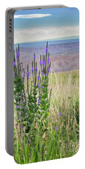 Lavender Verbena And Hills Portable Battery Charger