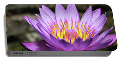 Lavender Water Lily #3 Portable Battery Charger
