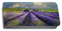 Lavenders Of South Portable Battery Charger by Dragica Micki Fortuna