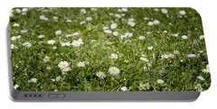 Lawn Of Daisies Portable Battery Charger