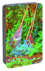 Portable Battery Charger featuring the photograph Lawn Tools by Tom Singleton