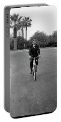 Lawyer On A Bicycle, 1971 Portable Battery Charger