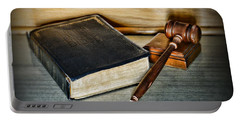 Lawyer - Truth And Justice Portable Battery Charger by Paul Ward