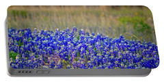 Portable Battery Charger featuring the photograph Layers Of Blue by Linda Unger