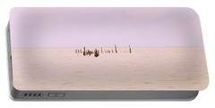 Portable Battery Charger featuring the photograph Layers Of Calm by Deborah  Crew-Johnson