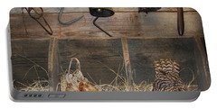 Laying Hens Portable Battery Charger by Kim Henderson