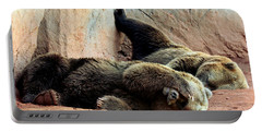 Portable Battery Charger featuring the photograph Lazy Bears by Sheila Brown
