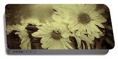 Portable Battery Charger featuring the digital art Lazy Daisy by Bonnie Willis