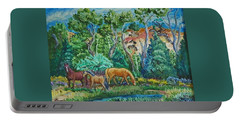 Lazy Wyoming Afternoon Portable Battery Charger by Dawn Senior-Trask