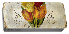 Le Jardin Tulipes Portable Battery Charger by Mindy Sommers
