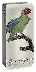 Le Perroquet Geoffroy Male / Red Cheeked Parrot - Restored 19th C. By Barraband Portable Battery Charger by Jose Elias - Sofia Pereira