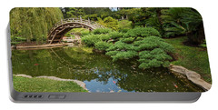 Lead The Way - The Beautiful Japanese Gardens At The Huntington Library With Koi Swimming. Portable Battery Charger