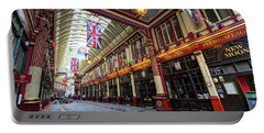 Leadenhall Market Portable Battery Charger by Shirley Mitchell