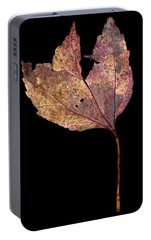Portable Battery Charger featuring the photograph Leaf 11 by David J Bookbinder