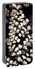 Leaf Abstract 15 Sepia Portable Battery Charger by Sarah Loft