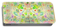 Leaf And Flower And Heart Pattern  Portable Battery Charger