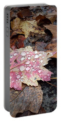 Portable Battery Charger featuring the photograph Leaf Bling by Kendall McKernon