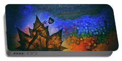 Portable Battery Charger featuring the photograph Leaf Dancer by James Bethanis