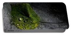 Portable Battery Charger featuring the photograph Leaf Droplets by Brad Allen Fine Art