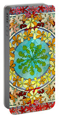 Leaf Motif 1901 Portable Battery Charger by Padre Art