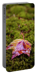 Leaf On Moss Portable Battery Charger