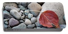 Leaf On River Rocks Portable Battery Charger