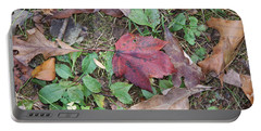Leaf Standing Out In A Crowd Portable Battery Charger