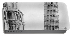 Leaning Tower Of Pisa Italy - C 1902  Portable Battery Charger